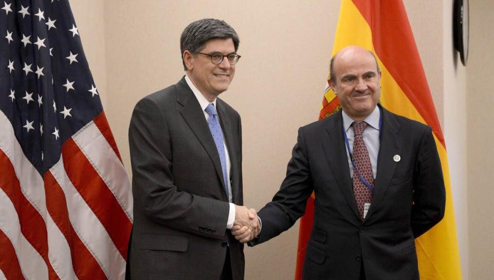 De Guindos con el Secretario del Tesoro de EEUU