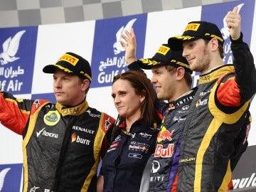 El podio del GP de Baréin
