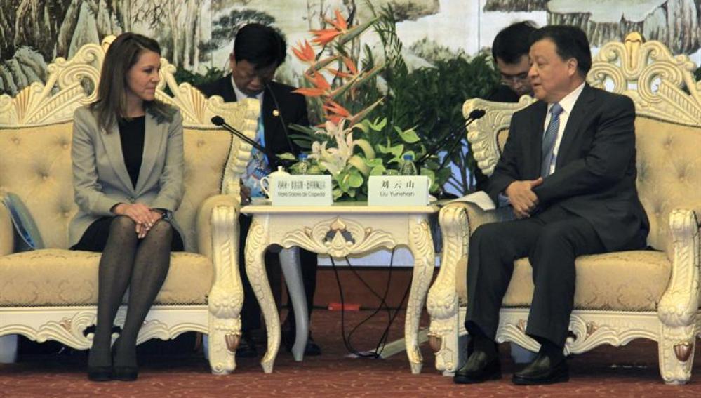 Cospedal junto al primer secretario del PCCh