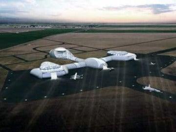 Prototipo del aeropuerto espacial diseñado en España
