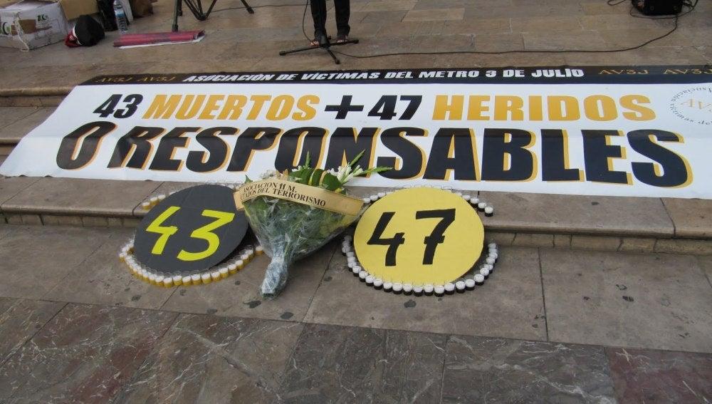 Homenaje en memoria de las víctimas del accidente de metro de Valencia en 2006