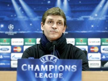 Tito Vilanova, en rueda de prensa