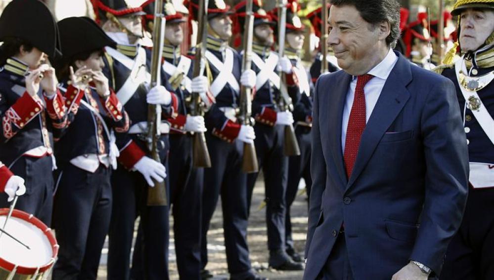 Ignacio González durante los actos del 2 de mayo
