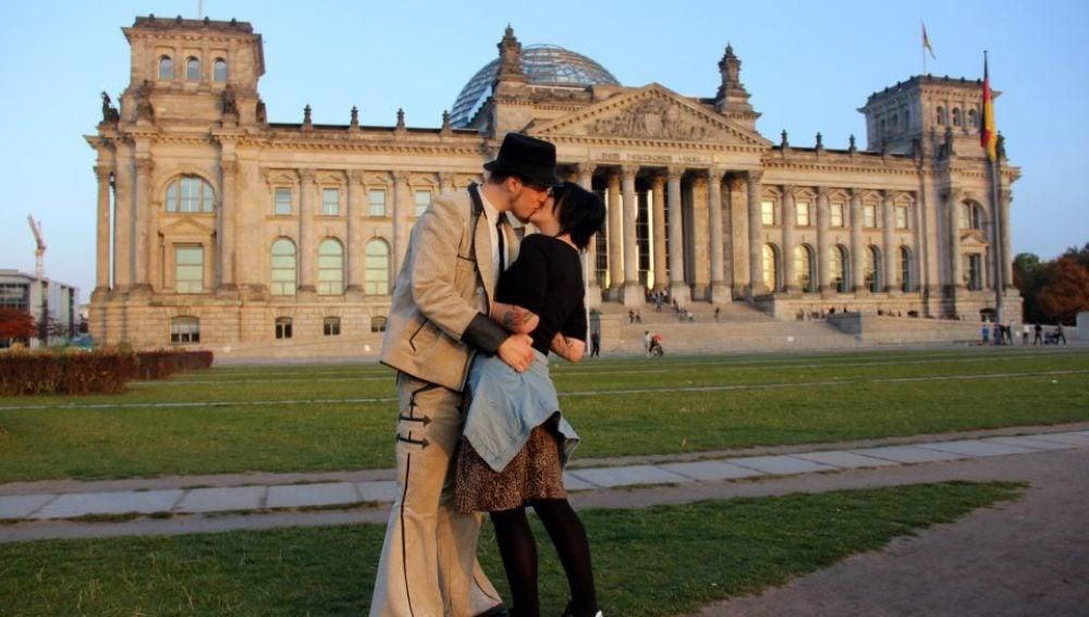 Beso en Berlín
