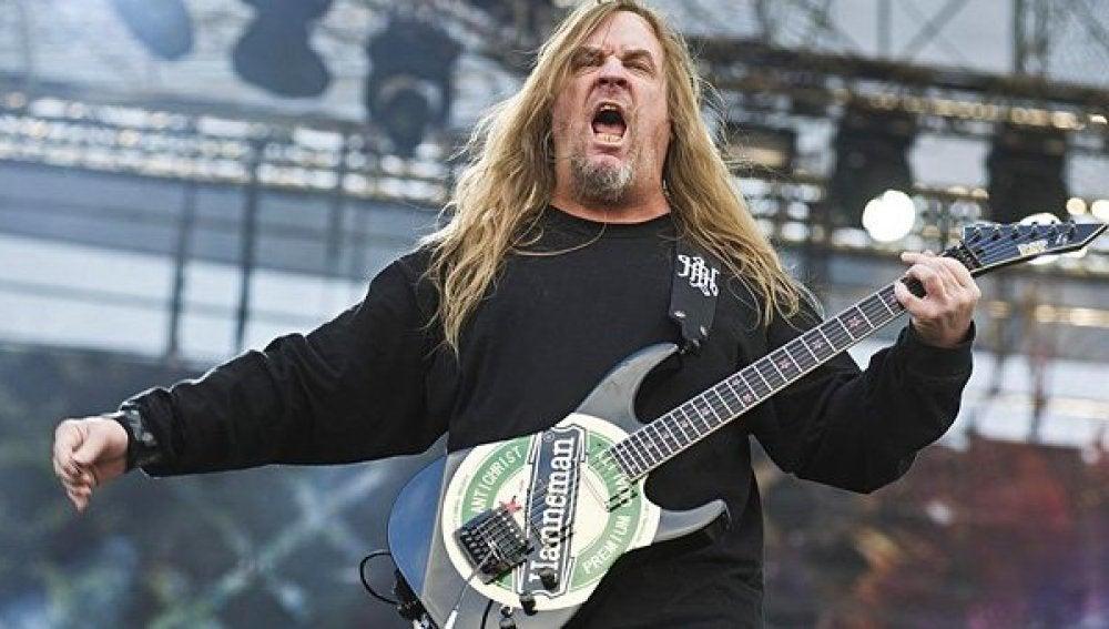 El guitarrista Jeff Hanneman