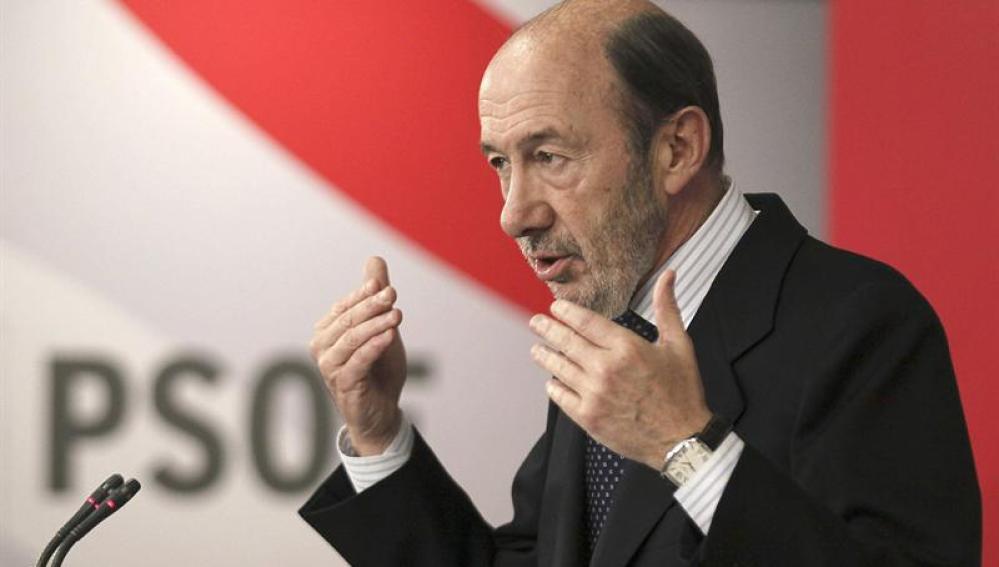Alfredo Pérez Rubalcaba, líder del PSOE.