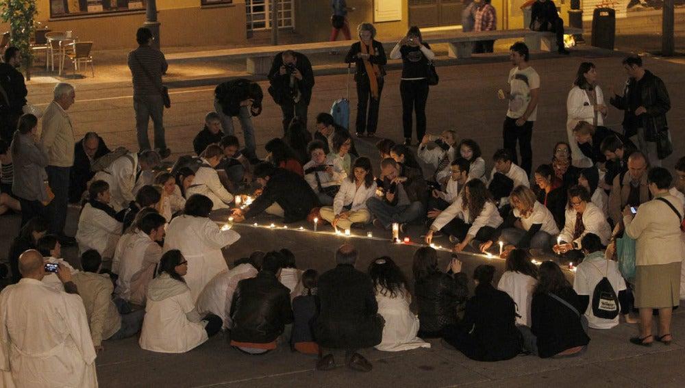 Vigilia contra la externalización en la sanidad madrileña