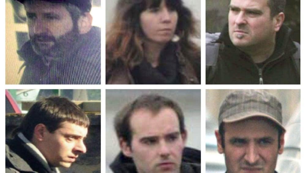 Los seis detenidos por pertenecer al aparato logístico de ETA