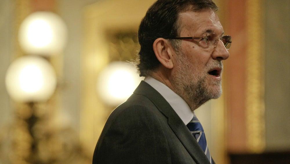 Mariano Rajoy en el pleno del Congreso