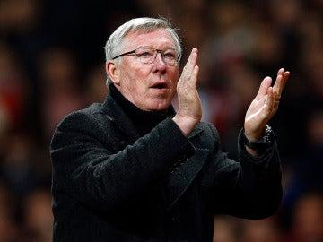 Alex Ferguson durante un partido