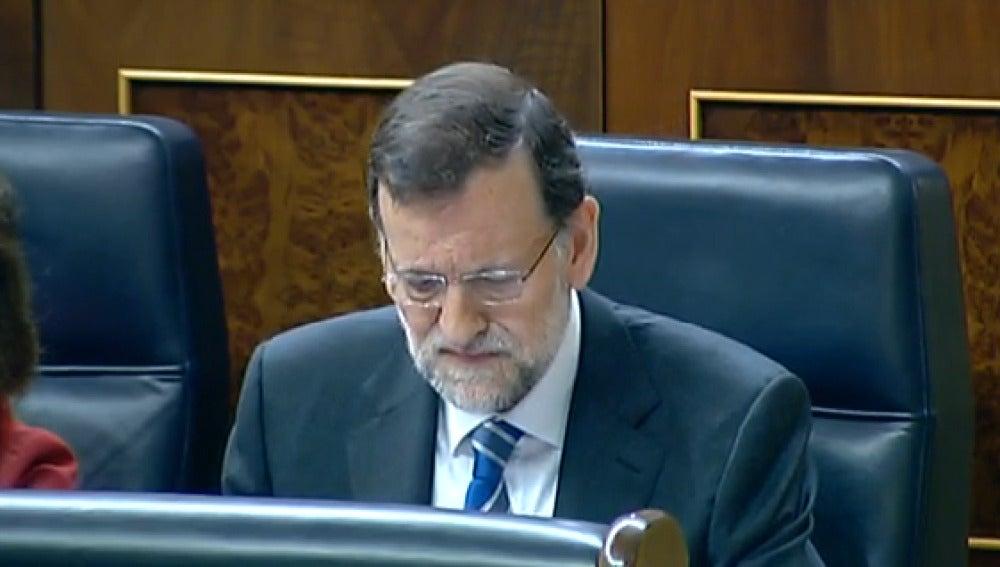 Rajoy, en el Pleno