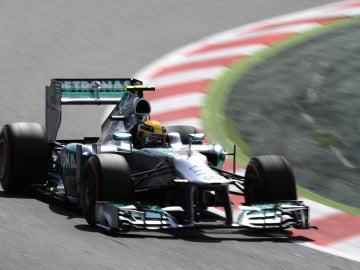 Hamilton en el Mercedes