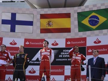 El podio del GP de España