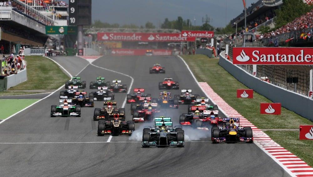 Salida del GP de España