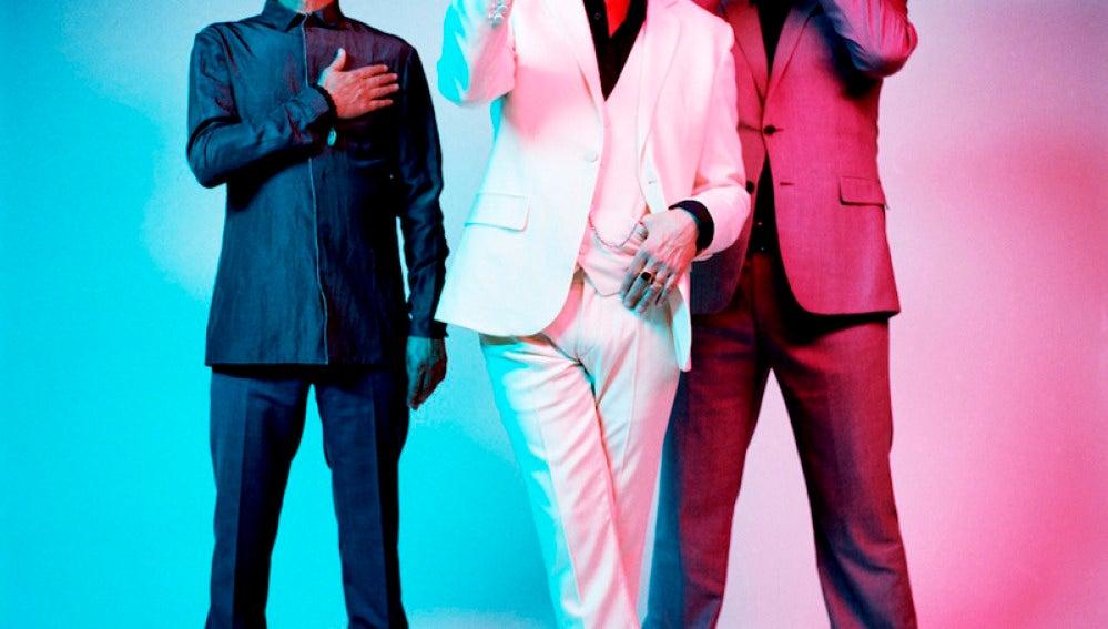 El grupo Depeche Mode en una imagen promocional.