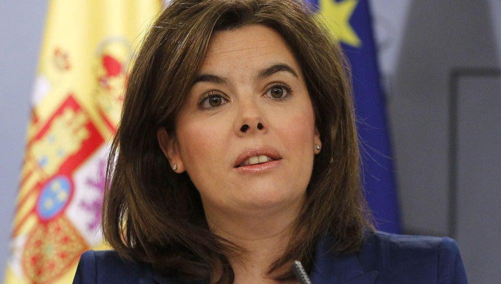 Sáenz de Santamaría, en la rueda de prensa del Consejo de Ministros