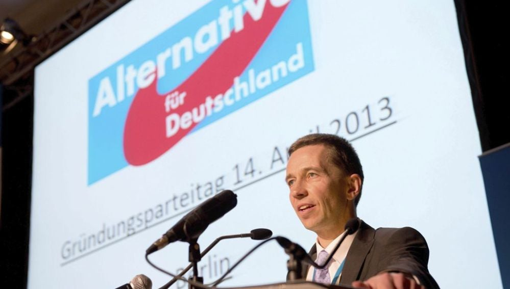 El presidente de AfD, Bernd Lucke