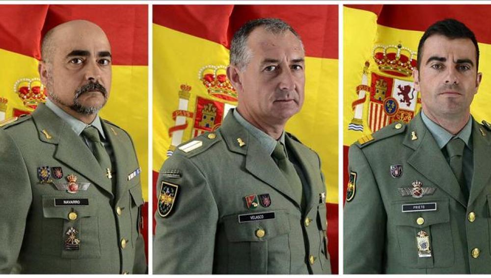 Militares fallecidos en la explosión de Almería