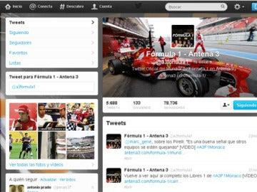 Twitter de Fórmula 1 para comentar el #A3F1Monaco.