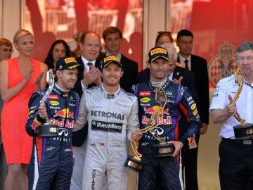 El podio del GP de Mónaco 2013