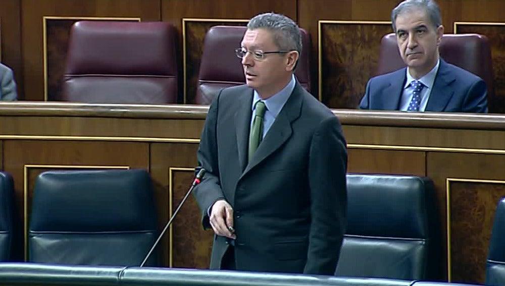 Ruiz Gallardón en el Congreso