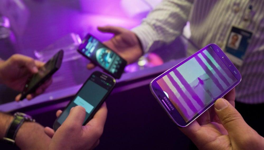 Distintos modelos de smartphone