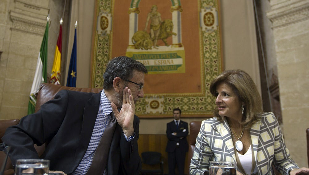 Presidente y vicepresidenta segunda del parlamento andaluz