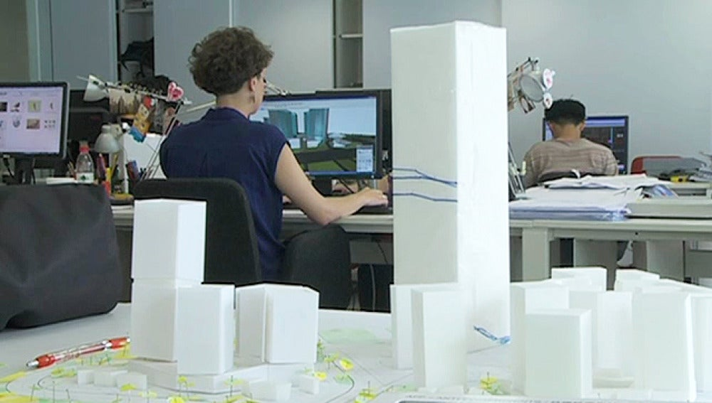Un estudio de arquitectura en China