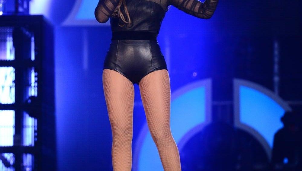 Beyoncé en un concierto benéfico