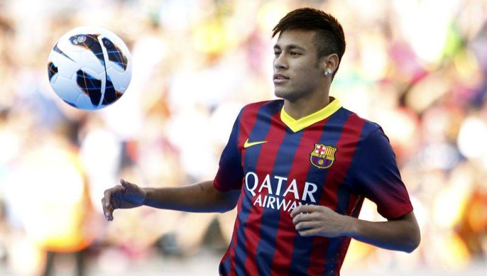 Neymar, presentado en el Camp Nou como nuevo jugador del FC Barcelona