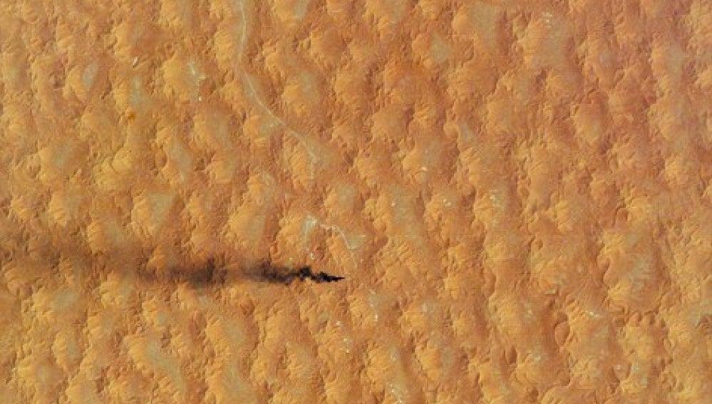 Dunas en el Sahara vistas desde el espacio