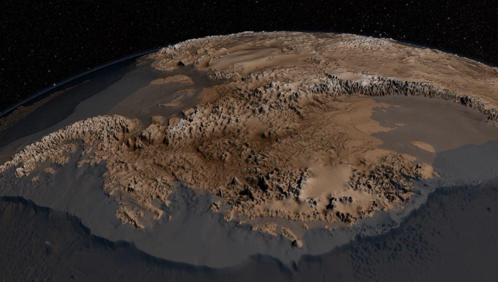 La NASA muestra como sería la Antartida sin hielo