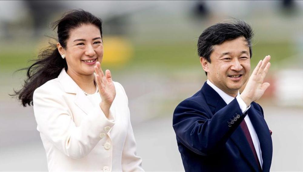 El príncipe japonés, Naruhito y su esposa