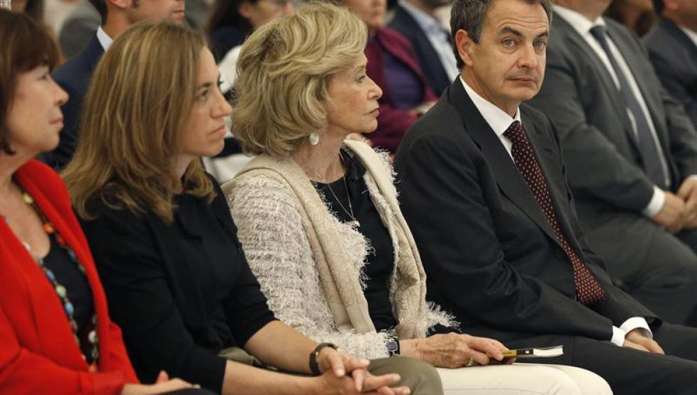 Zapatero junto con De la Vega y Chacón