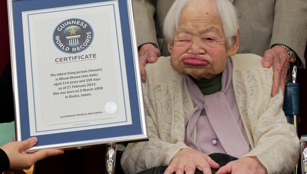 Misao Okawa de 115 años