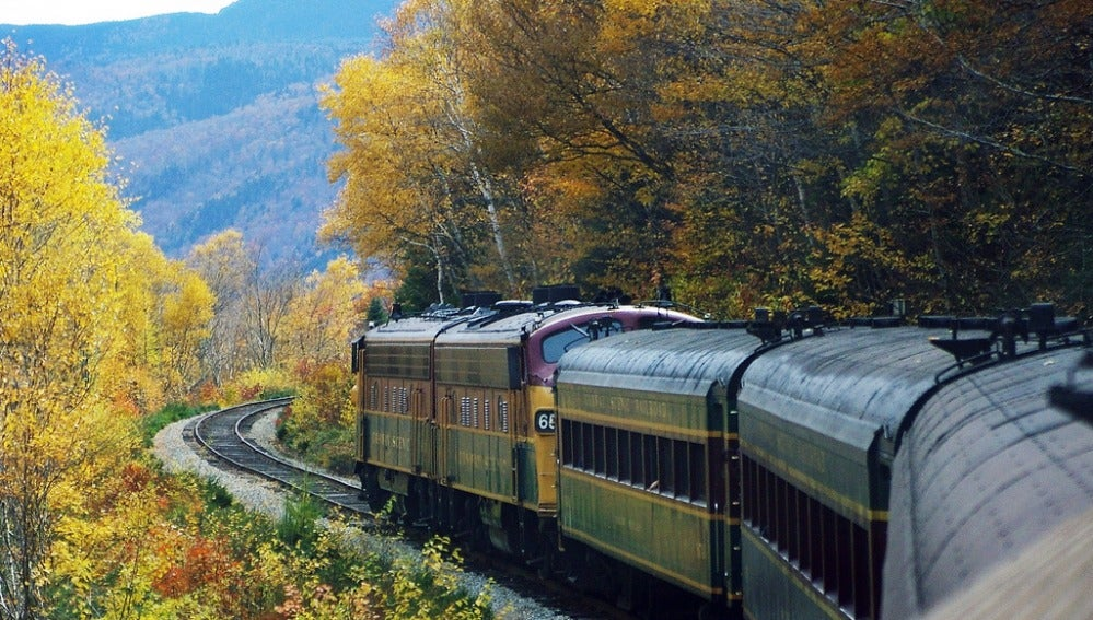 A bordo del Conway Scenic Railroad
