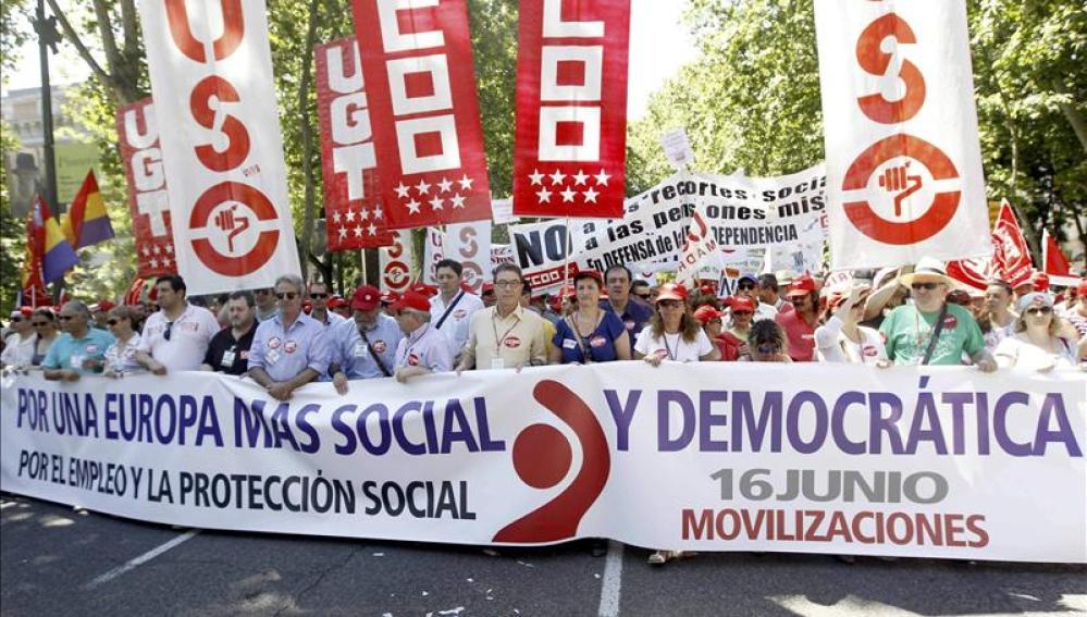 Manifestación contra la austeridad