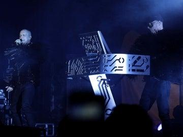 Los integrantes del grupo británico Pet Shop Boys