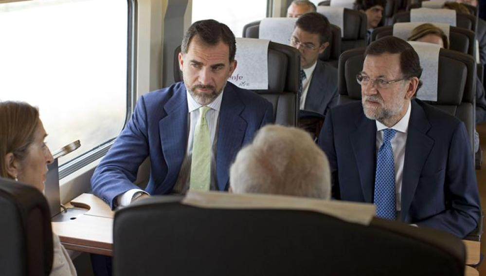 El príncipe inaugura la línea del AVE Madrid-Alicante