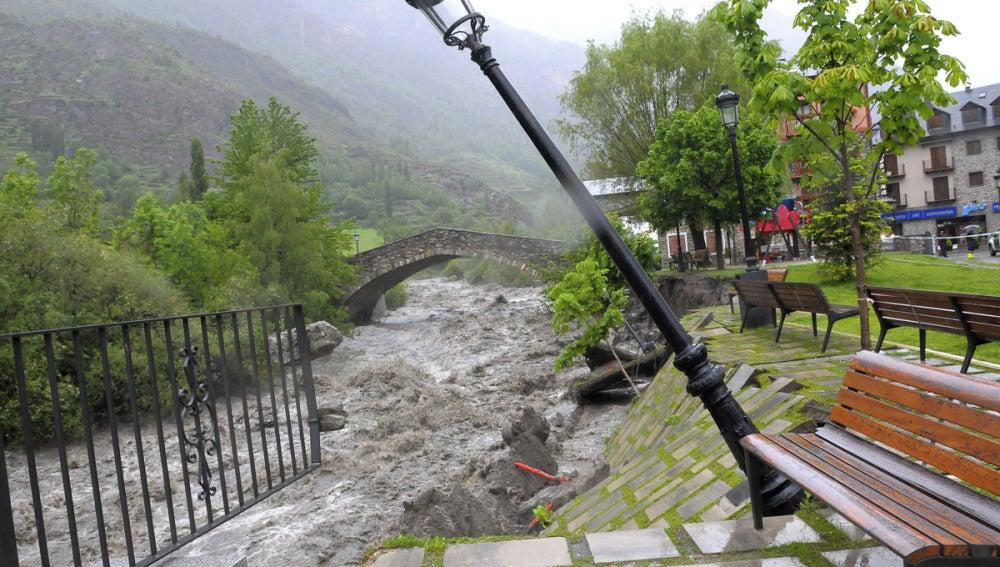 Estado en el que queda Benasque con las inundaciones