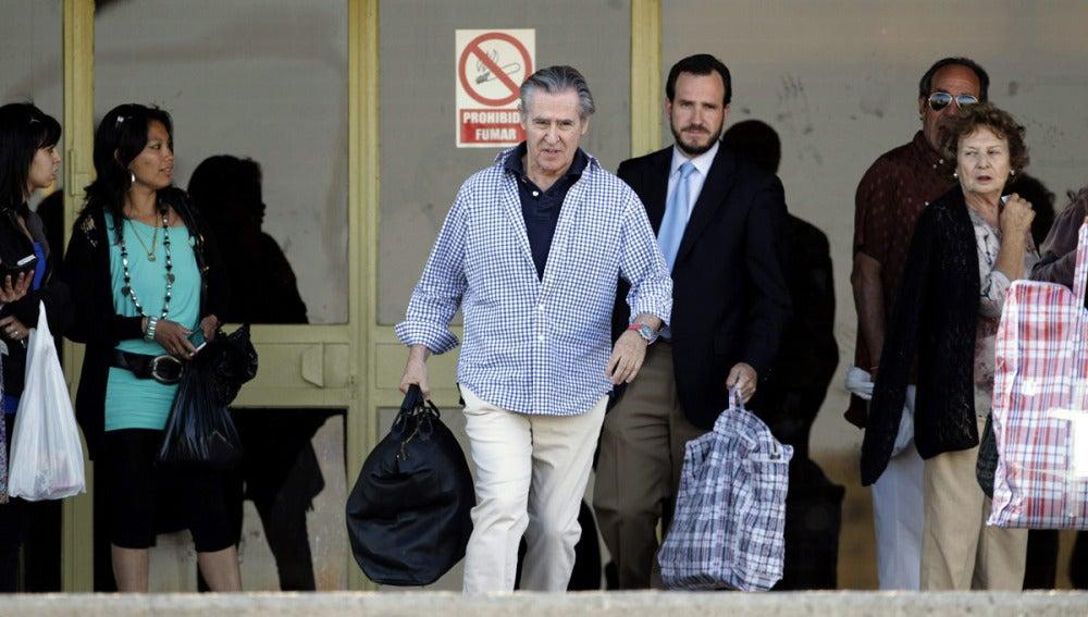 Miguel Blesa a su salida de la prisión de Soto del Real
