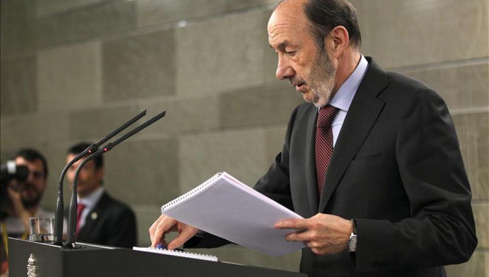 Alfredo Pérez Rubalcaba, líder del PSOE