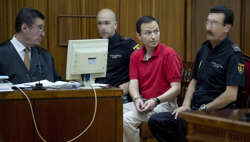 Bretón durante el juicio