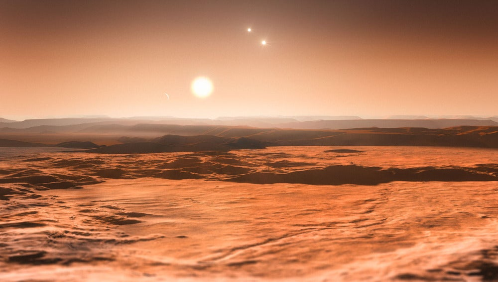 Impresión de un planeta habitable