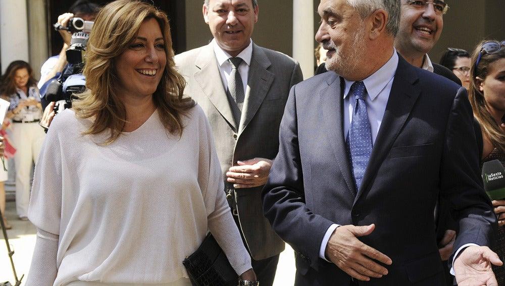 José Antonio Griñán acompañado de la consejera andaluza de la Presidencia e Igualdad, Susana Díaz.