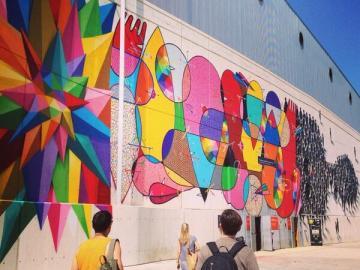 Este mural da la bienvenida a Mulafest