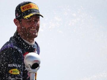 Webber, de celebración