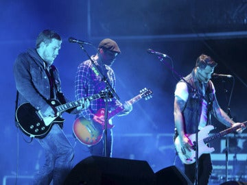 The Gaslight Anthem durante su concierto en el Azkena Rock de Vitoria