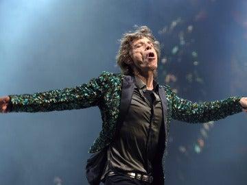 Jagger disfrutando en el escenario