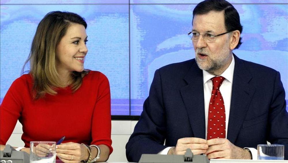Cospedal y Rajoy, en el Comité Ejecutivo del PP
